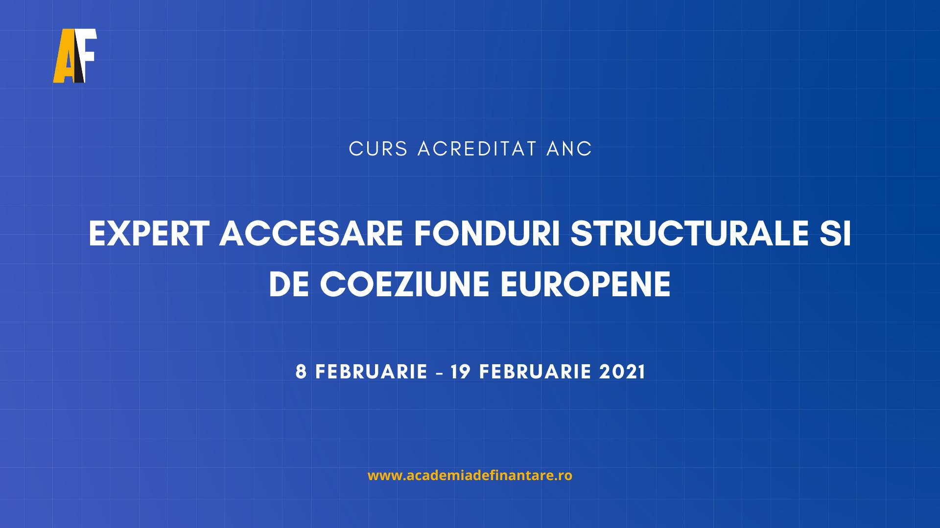 Calendar curs fonduri europene februarie 2021