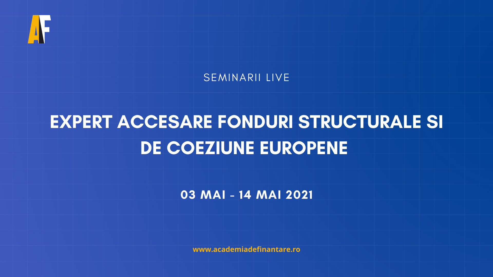 Calendar curs fonduri europene Martie 2021